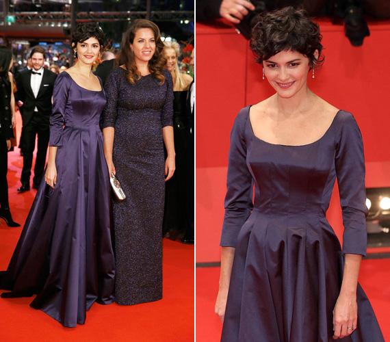 Audrey Tautou egy liláskék estélyit választott a díszbemutatóra, a 38 éves francia színésznő a klasszikus eleganciát képviselte a vörös szőnyegen.