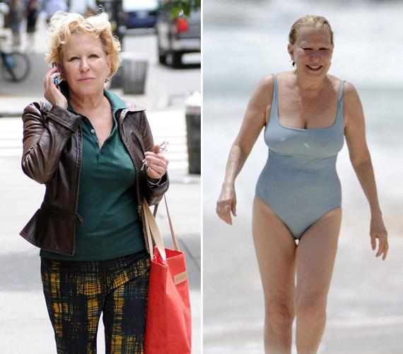 Bette Midler 66 évesen is remek formában van, legutóbb a strandon fotózták őt le a szemfüles paparazzók.