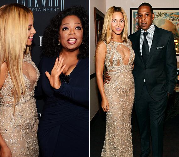A rendezvényen jelen volt Oprah Winfrey és a férje, Jay-Z is, akikkel közös fotót is készítettek.