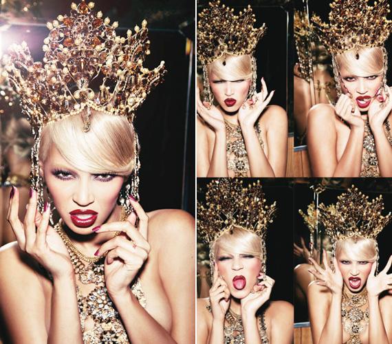 A laza, pajkos fotók Beyoncé 4 című albumának új kiadását hivatottak reklámozni, ami júniusban kerül a boltok polcaira.