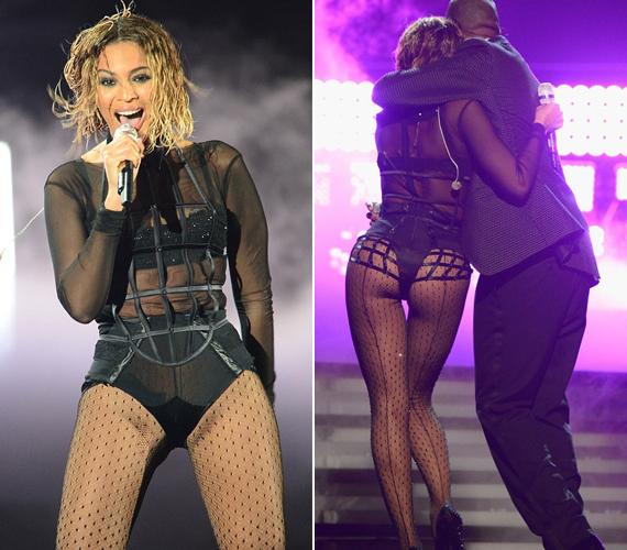 Az énekesnő szexi szerelésben lépett fel a Grammy-gálán.
