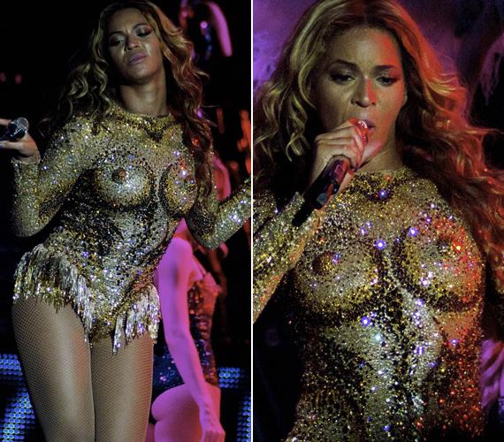 Beyoncé ezzel a melleket formázó ruhával nyitotta meg a turnéját.