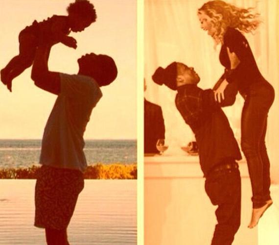 Jay-Z élete két fontos nőjével: lányával és feleségével.