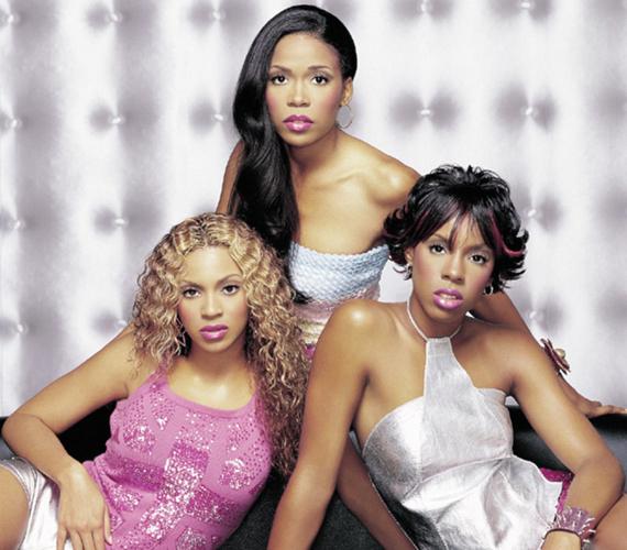 Így néztek ki egykoron a lányegyüttes tagjai, bal szélen bongyor szőkeként Beyoncé.