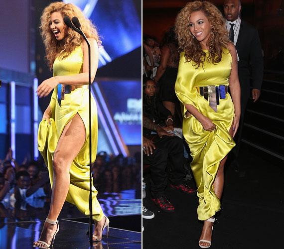 Júliusban a BET Awards-gálán jelent meg ebben a csípőig felvágott ruhában.
