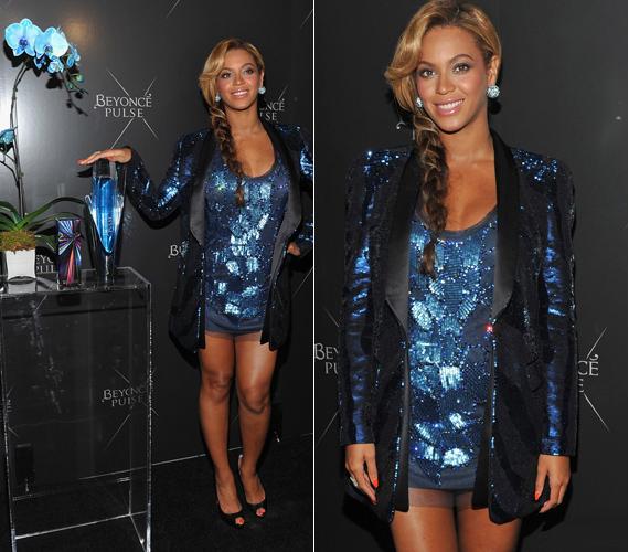 A parfüm bemutatását követő partin a büszke apuka, Jay-Z és az énekesnő húga, Solange szolgáltatták a zenét - Beyoncé pocakosan is táncra perdült.