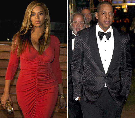 Az eseményre gyermeke apja, Jay-Z kísérte el.