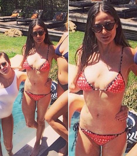 Demi Moore  Az 50 éves Demi Moore nagyon sokat foglalkozik a testével, ami bizony meg is látszik! Elképesztően jó formában van még mindig.  Kapcsolódó cikk:  Demi Moore jobban néz ki bikiniben, mint a lányai!