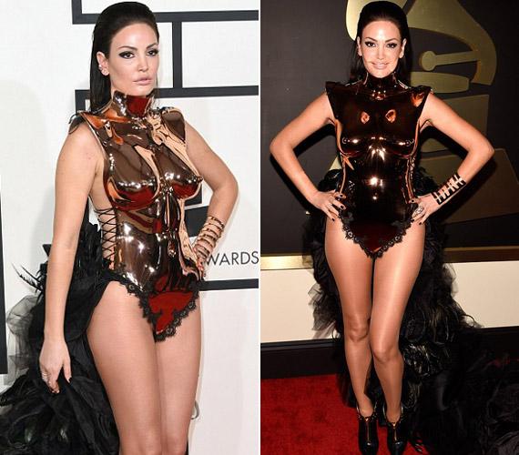Bleona Qereti a Grammy-gála legcsúnyább ruhájának tulajdonosa.