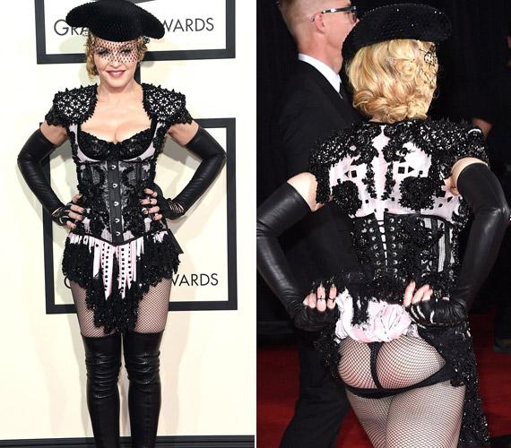 Madonna 56 évesen is bevállalta a merész Givenchy-darabot.
