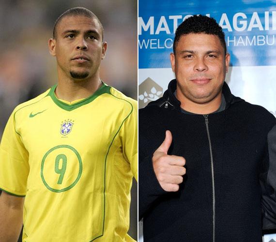 Ronaldo 2011-ig volt a brazil labdarúgó-válogatott játékosa. A 36 éves focista szintén nem tudta kordában tartani a súlyát, 2011 decemberére látványosan kikerekedett.
