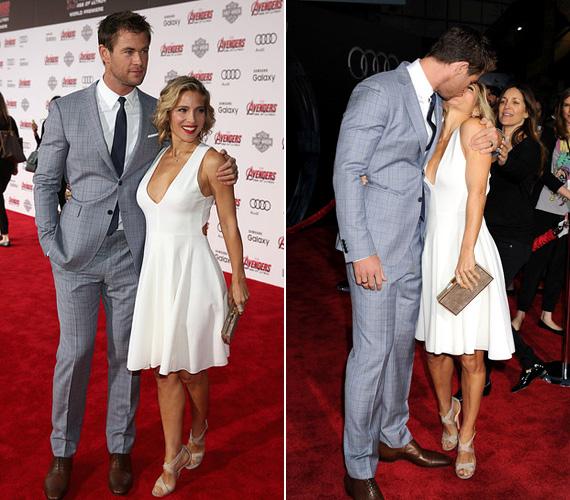 Chris Hemsworth, Thor megformálója szintén feleségével volt jelen a premieren. Elsa Patakyval 2010 óta házasok, két gyermekük van, de ez a csinos színésznő alakján egyáltalán nem látszik.