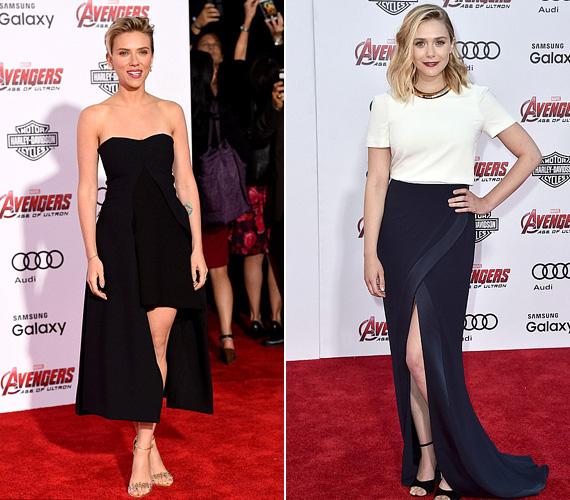Volt, aki a bemutatón nem pasit, hanem lábat villantott, mint Scarlett Johansson, aki a Fekete özvegyet játssza, illetve Elizabeth Olsen, aki pedig Pietro Maximoff ikertestvérét, Wandát, azaz a Skarlát Boszorkányt alakítja.