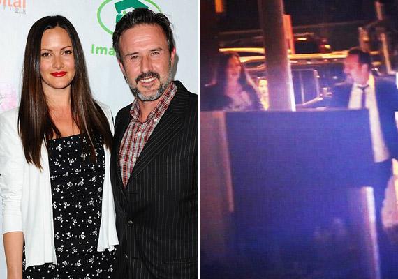 Egy forgalmas utcán, a járókelők szeme láttára szakított David Arquette menyasszonyával, Christinával.