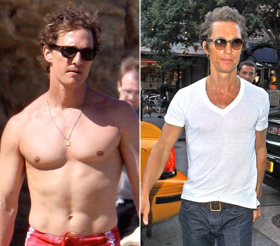 A kitűnő kondícióban lévő Matthew McConaughey egy szerep kedvéért fogyott csontsoványra a tavalyi év folyamán. Szerencsére ennek már vége, és a szexi színész lassan visszanyeri régi formáját.