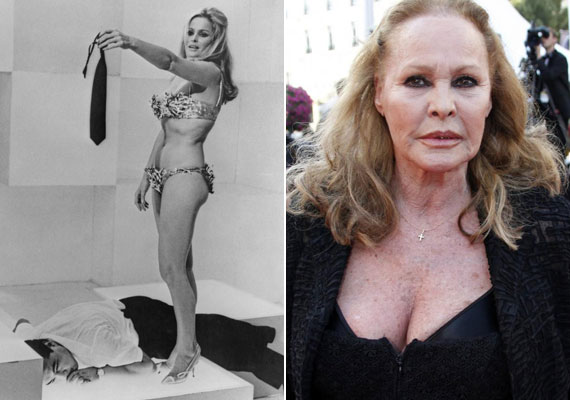 Ursula Andress szépségét főként olasz, francia, német és amerikai filmekben kamatoztatta. Az átütő sikert a James Bond-lány szerepe hozta meg számára, Sean Connery oldalán, a Dr. Nóban. Jelenleg 79 éves, évtizedek óta egyedül él, és már szerepeket sem vállal.