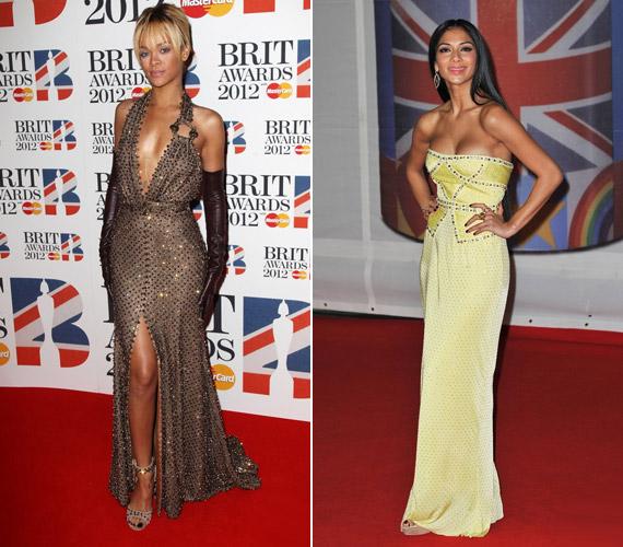 Az énekesnők többsége ragyogott a gálán: Rihanna és Nicole Scherzinger is vonzotta a tekinteteket.