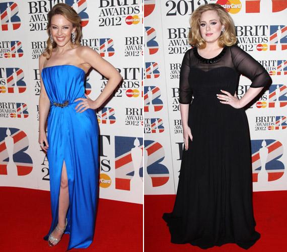 Kylie Minogue üde színfolt volt gyönyörű, kék estélyijében, Adele pedig most sem lőtt mellé kedvenc viseletével, a nőies feketével.
