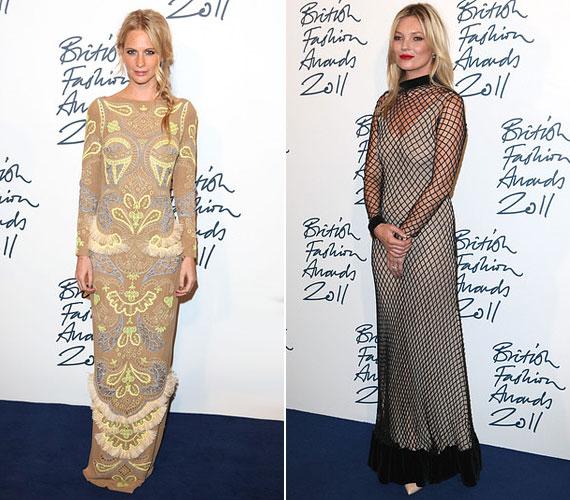 Minden szem Kate Mossra szegeződött ebben a halászhálóra emlékeztető ruhában.