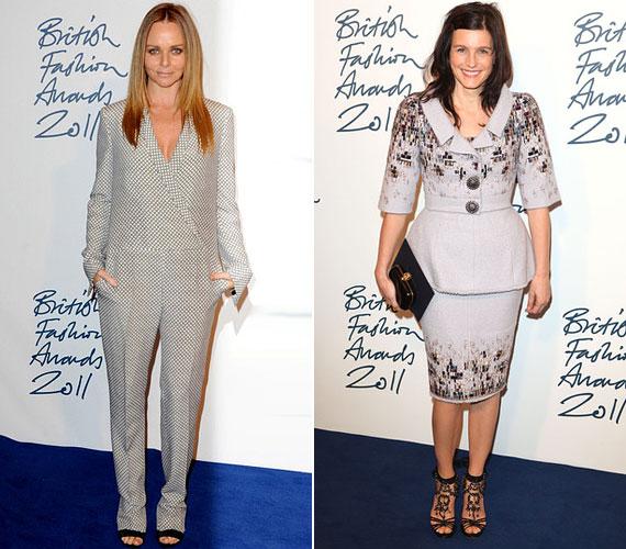 Stella McCartney saját tervezésű darabban érkezett a díjátadóra, Tabitha Simmons pedig inkább a hagyományos kosztümöt részesítette előnyben.