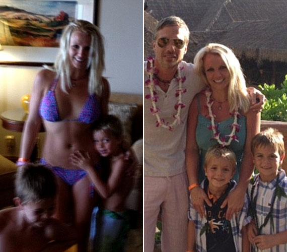 A családi kikapcsolódásra vőlegénye, Jason Trawick és fiai, a hatéves Sean Preston és az ötéves Jayden James kísérték el.