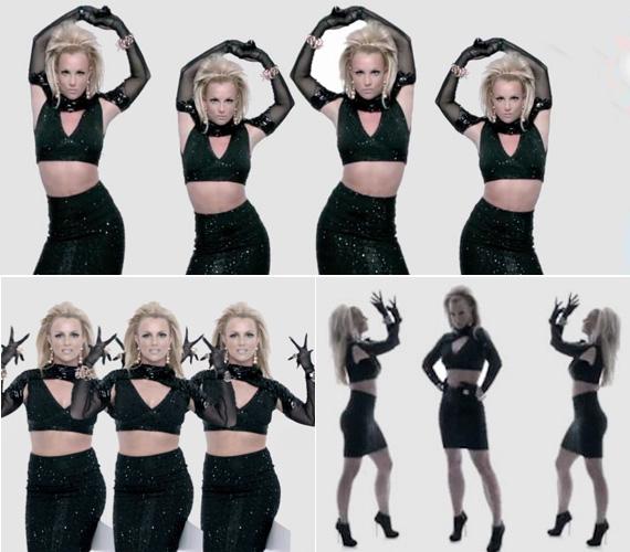A ruhadarabok tulajdonképpen nem is olyan különlegesek, az összhatás és Britney szexi pózai mégis egyedivé teszik a megjelenést