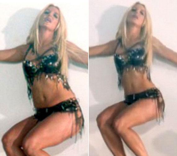Britney Spears mielőtt lefogyott, kérte, hogy klipjében digitálisan változtassák bombanővé.