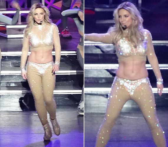 Ehhez hasonló ruhát hordott a Toxic klipjében is. A kockák a hasán azonban csak a festéknek köszönhetők.