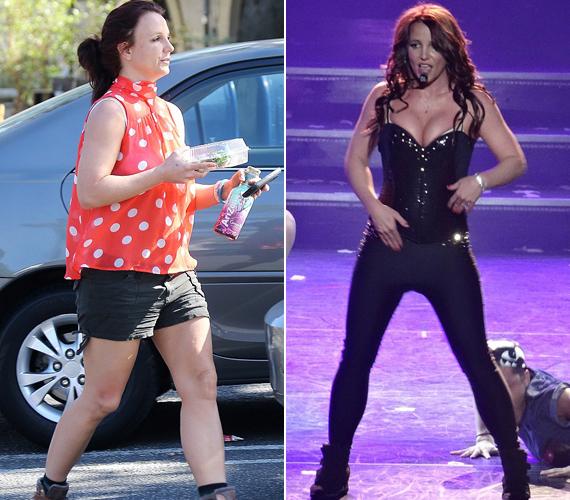 Las Vegas-i koncertjei során sokkal vékonyabbnak tűnik.