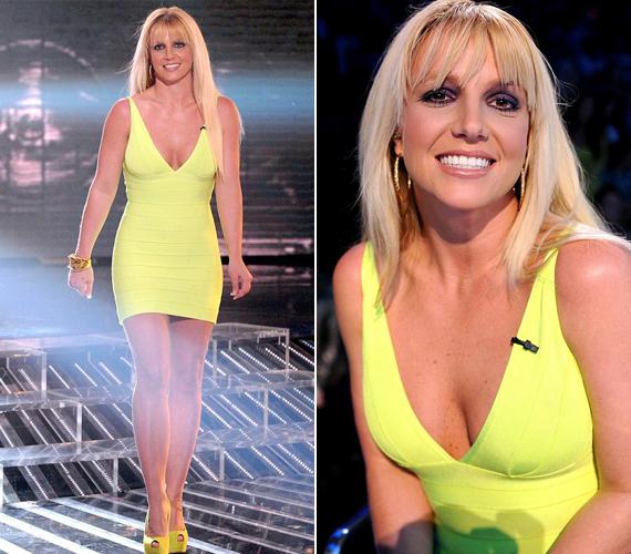 Dekoltázsára tapadt a legtöbb szem, bár a ruha kiadta az énekesnő újra fitt alakját is.