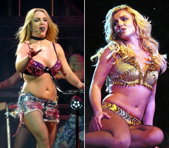 Britney Spears jócskán elhízva tért vissza a színpadra a nagy kihagyás után, és azóta is folyton küzd a plusz kilókkal.