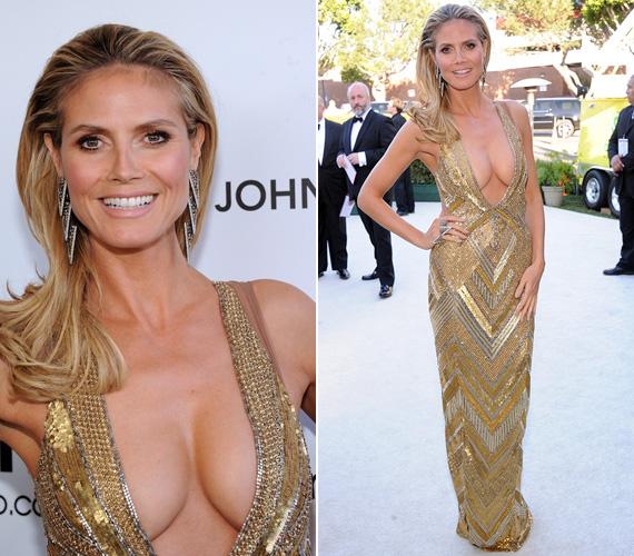 Ugyanezen a rendezvényen Heidi Klum modell kiérdemelhette volna a legközönségesebben öltözködő sztár címét - hiába volt drága a Julien MacDonald ruha és Lorraine Schwartz ékszerek.