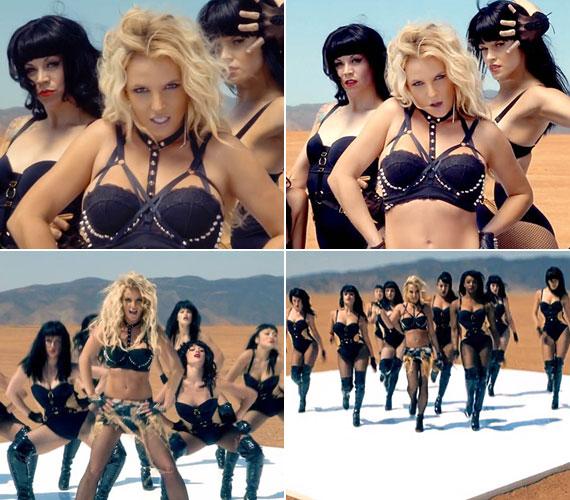 A Work B**ch címet viselő új klipben jó pár dögös nő szerepel, de természetesen Britney az egyedüli szőke.