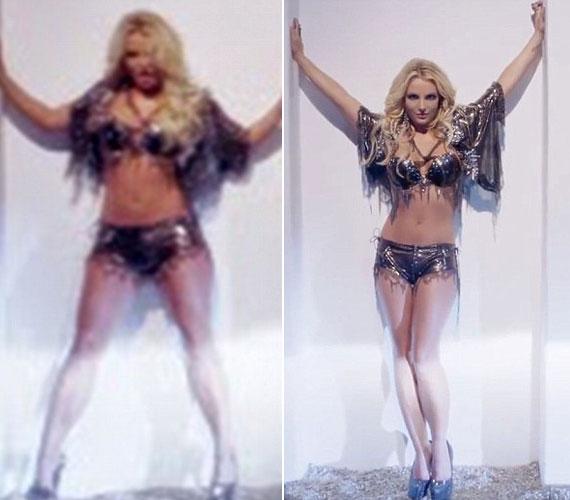 Britney Spears hasát laposabbá is tette a vizuális effektekkel foglalkozó stúdió.