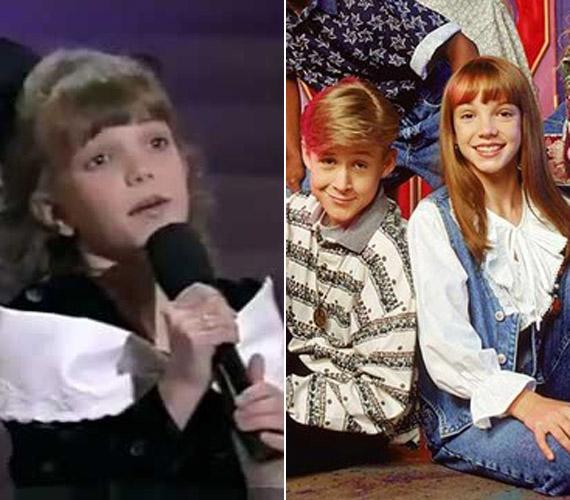 Az énekesnő, hogy családját anyagilag segítse, egészen korán kezdte az énekes szakmát. A második képen a ma híres színésszel, Ryan Goslinggal látható, 1992-ben mindketten tagjai voltak a Mickey Mouse Clubnak.