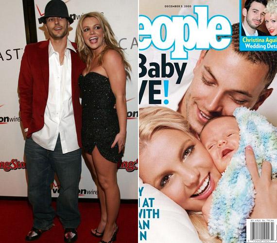 Beleszeretett háttértáncosába, Kevin Federline-ba, akinek két egészséges gyermeket szült.