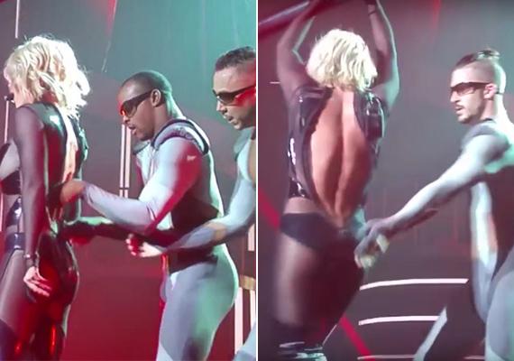 Októberben a Las Vegas-i koncertje során került kínos helyzetbe, amikor szűk ruhája szétszakadt a testén, táncosai próbálták visszahúzni rá.