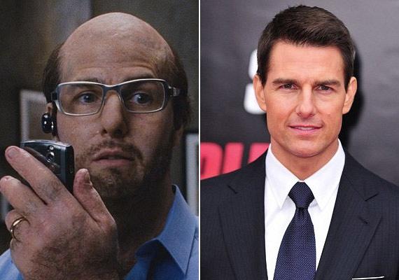 A nők bálványa, Tom Cruise szinte felismerhetetlen volt a Trópusi vihar című filmben, ahol szemüvegben és kopaszon állt kamerák elé.
