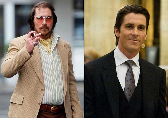 Christian Bale az Amerikai botrány című film főszerepéért dobta el egy időre a sármos külsejét: a színész pocakosan, kopaszon - hanyagul felcsapott póthajjal - és bajusszal állt kamerák elé.