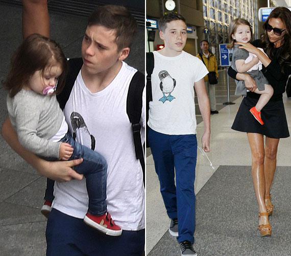 David Beckham május közepén bejelentett visszavonulását azzal is indokolták, hogy legidősebb fia kezelhetetlen, anyja nem bír vele egyedül. Pedig Brooklyn szívesen segít kisebb testvérei körül is.
