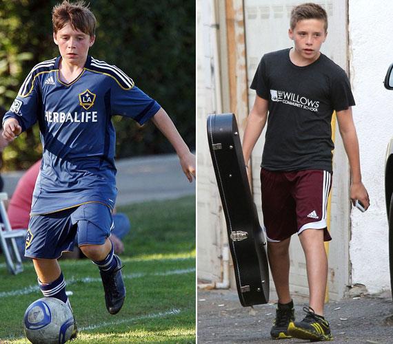 Brooklyn Beckham nemcsak a foci, de a zene iránt is érdeklődik, gitározni tanul.