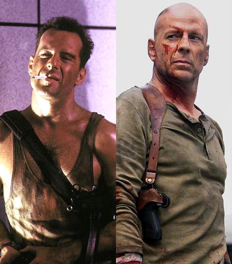 Mint John McLane                         1988-ban öltötte magára először a Die Hard című moziban John McLane koszos trikóját. Még háromszor - utoljára 2007-ben - bújt bele a rettenthetetlen hős karakterébe.