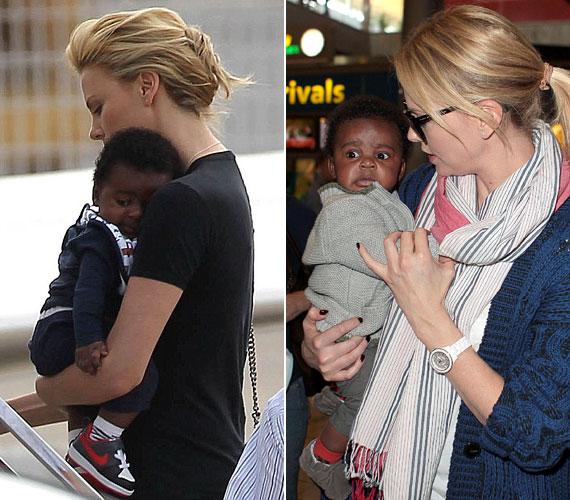 A 36 éves sztárt és gyermekét Párizsban kapták lencsevégre a fotósok. Eddig óvta a picit a nyilvánosság elől, így ezek az első babafotók.