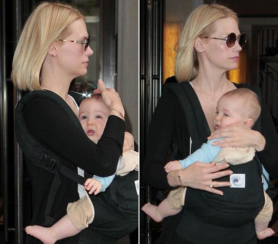 January Jones kisfia, Xander holtversenyben Nicole Kidman kislányával, szintén a dobogó harmadik helyén végzett.