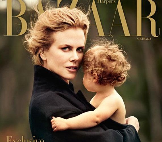 Nicole Kidman Faith nevű kislányával látható a Harper's Bazaar Australia című magazin legújabb számának címlapján. Véleményünk szerint a gyönyörű fotó kiérdemli a bronzérmet a hét cuki babafotóinak erős mezőnyében is.