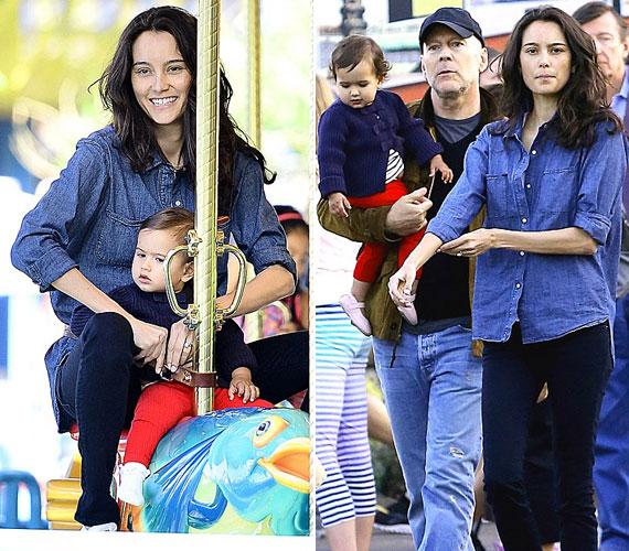 Április közepén szülei a kaliforniai Disneylandbe látogattak el kislányukkal.