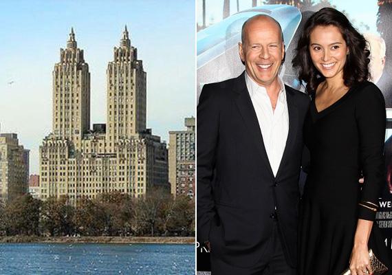 Bruce Willis lakása ebben az ikertornyos New York-i épületben van, a negyedik emeleten. A közel százéves, art deco stílusú Eldorado ház egyébként 30 emeletes, olyan hírességek laktak már itt, mint Alec Baldwin, Faye Dunaway, Moby vagy Michael J. Fox.