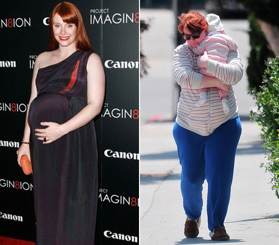 2011 novemberében, a When You Find Me bemutatóján hét hónapos terhesen is jobb formában volt, mint az idén májusban készült fotón, amelyen kislányával sétálgat.