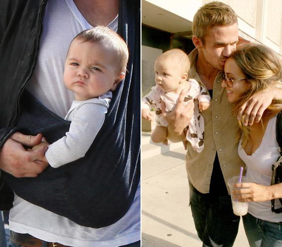 A két sztárcsemete nagyon hasonlít egymásra, ezek a képek még akkor készültek, amikor a négyéves kislány volt baba.