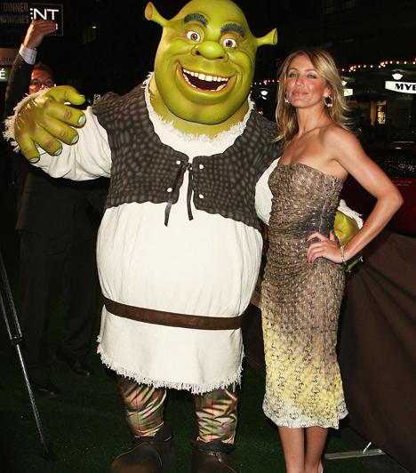 Shrek szerelme  2001-ben Shrek szerelme, Fiona bőrébe bújt - pontosabban a hangját kölcsönözte az animált figurának.